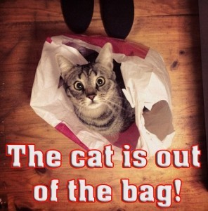 The cat is out of the bag!