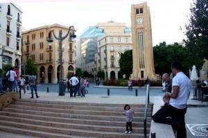 Nejmeh Square in Beirut, Lebanon.
