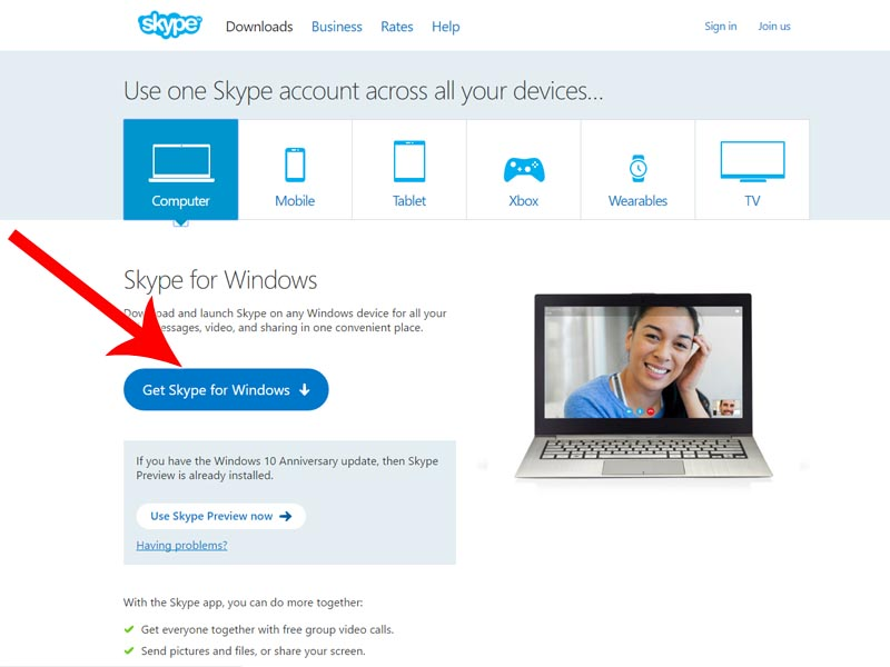 Install Skype - Step 2