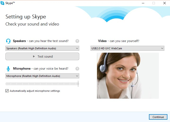 Setting up Skype - 1
