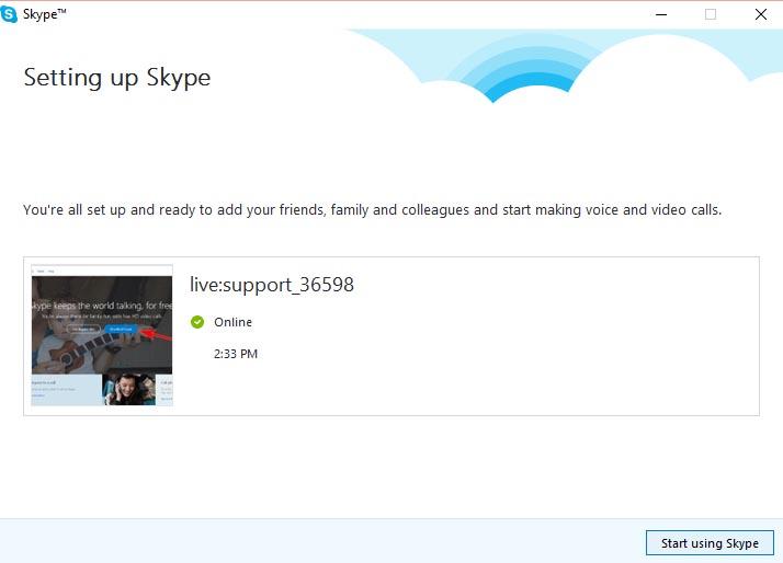 Setting up Skype - 4