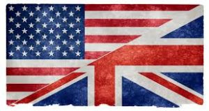 British flag vs American flag