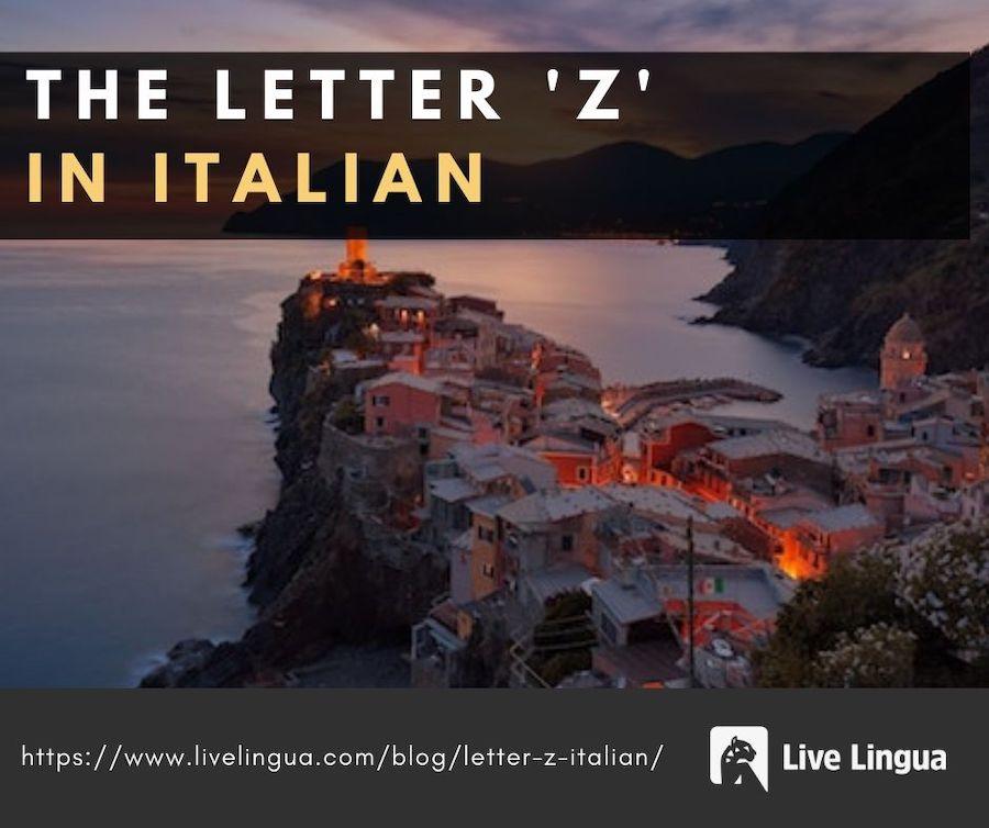 letter z in italian