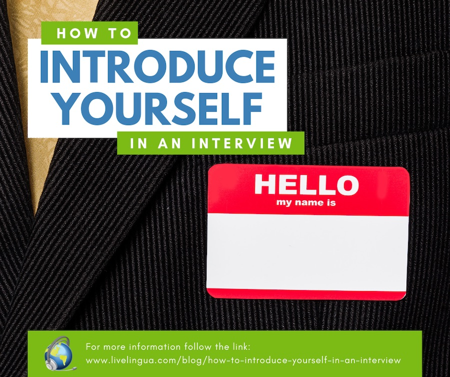 introduce yourself in interview