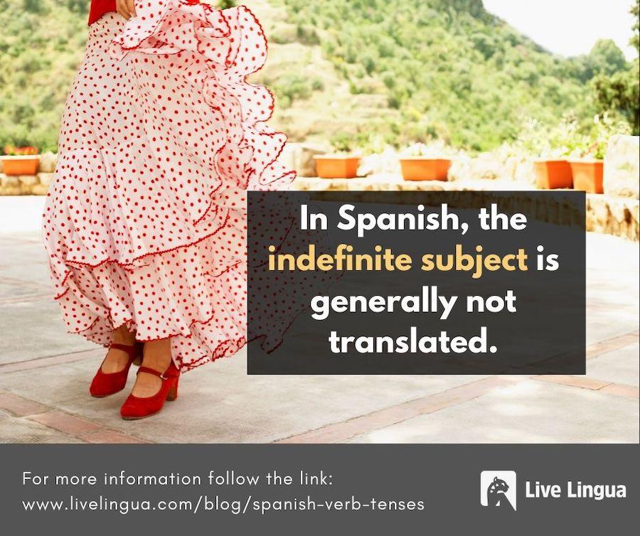 indefinite spanish
