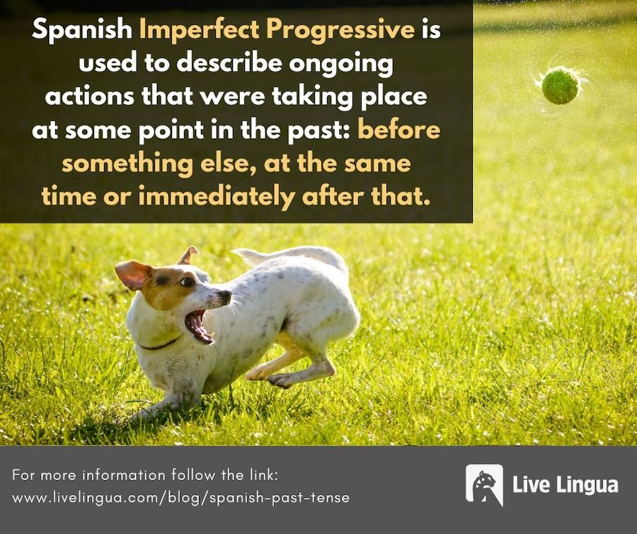 spanish past tense imperfect progressive