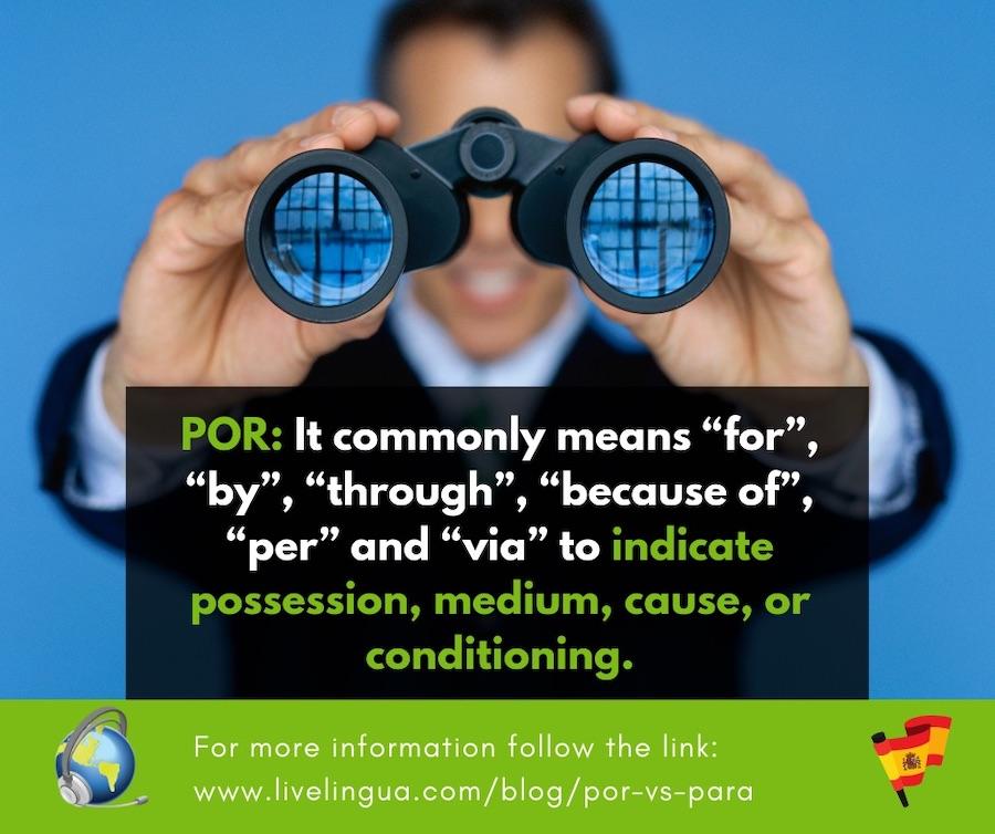 spanish word por