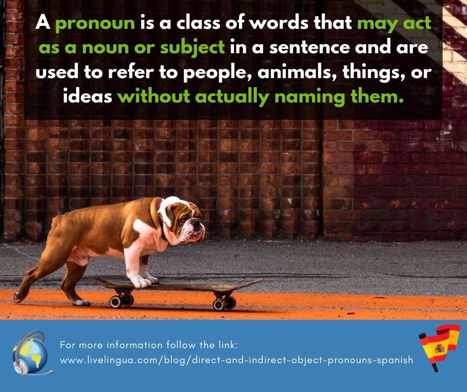 object pronouns spanish
