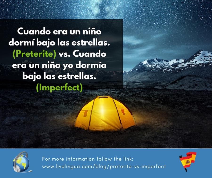 preterite vs imperfect spanish