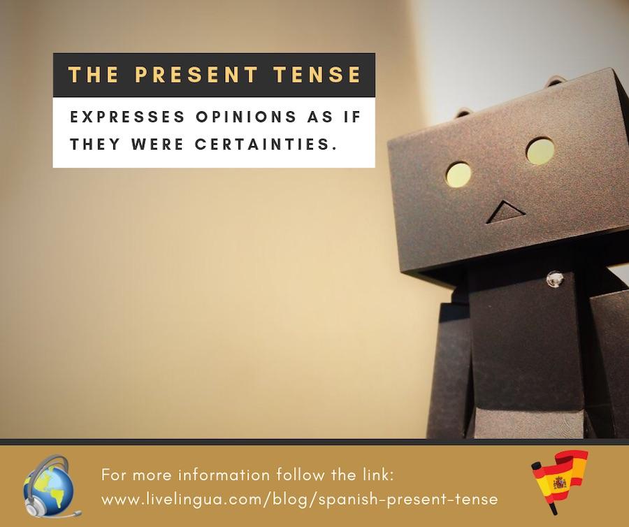 present tense verbs spanish