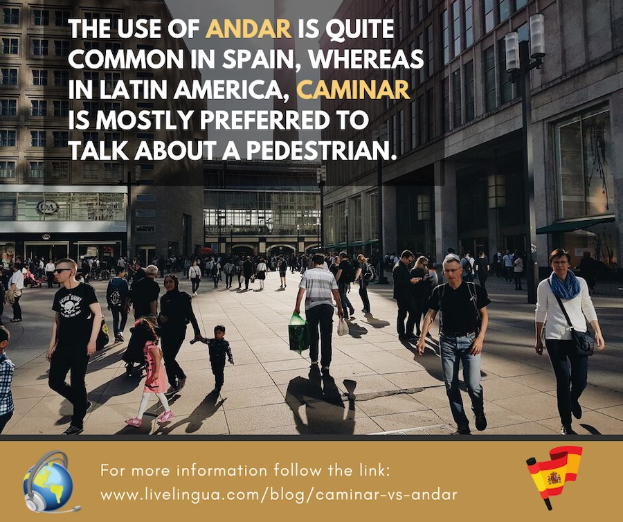 difference between caminar and andar