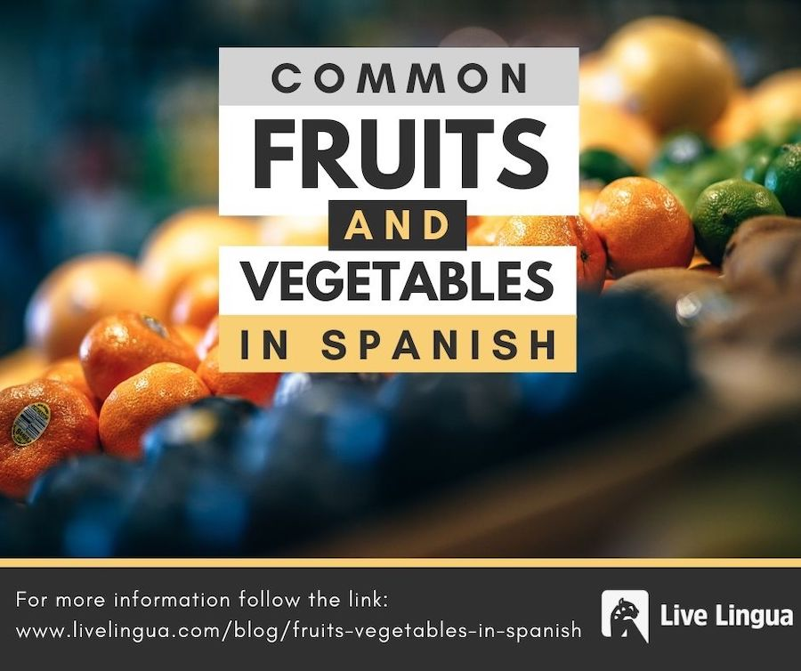 fruits and vegetables in spanish