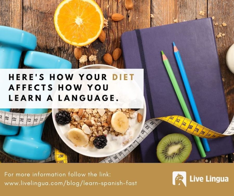how diet impacts language learning