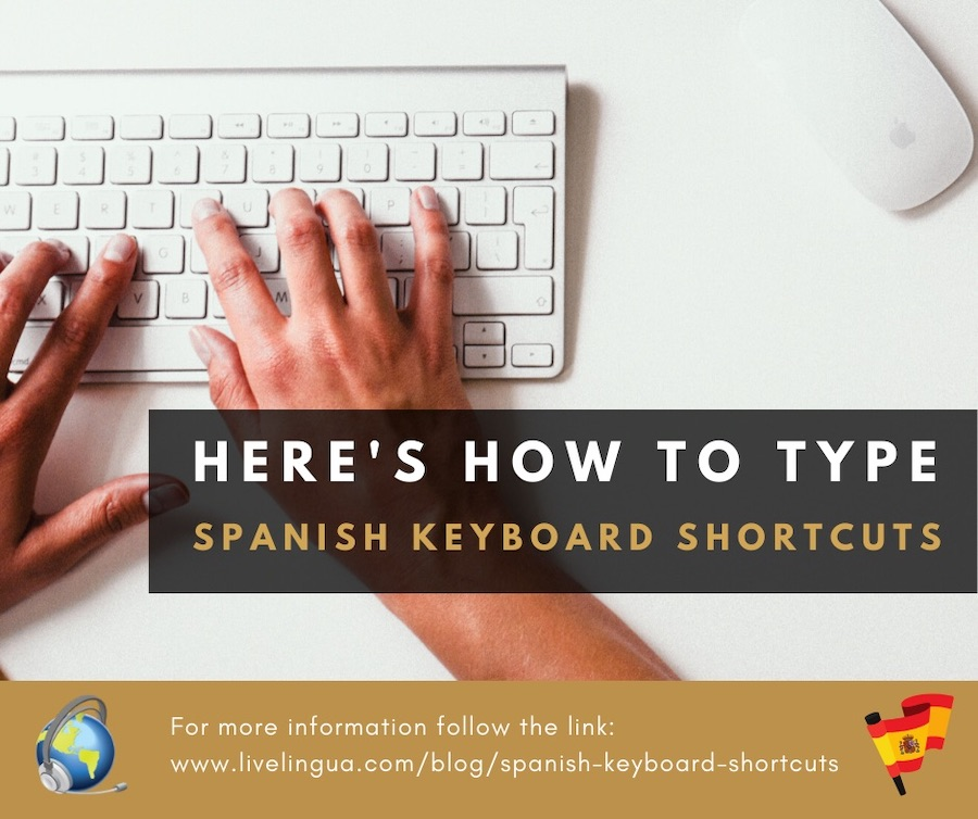 how to type spanish keyboard shortcuts