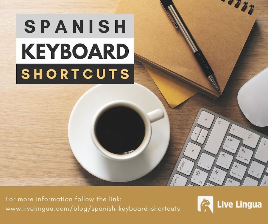 spanish keyboard shortcuts