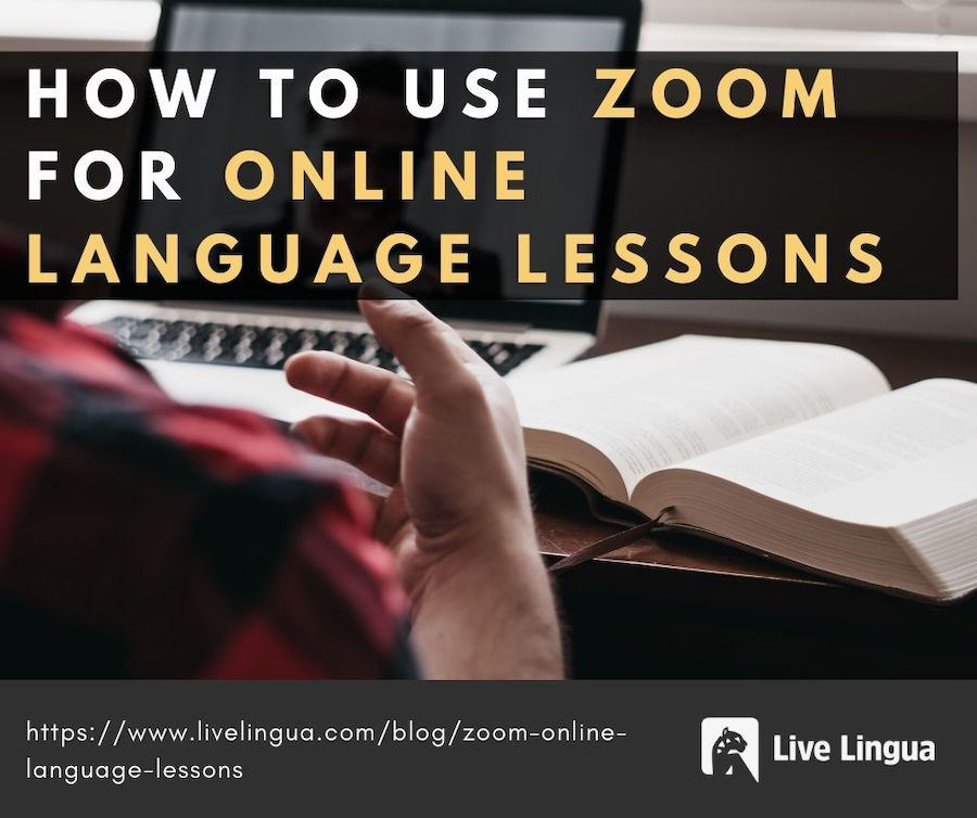 how to use zoom for online language lessons
