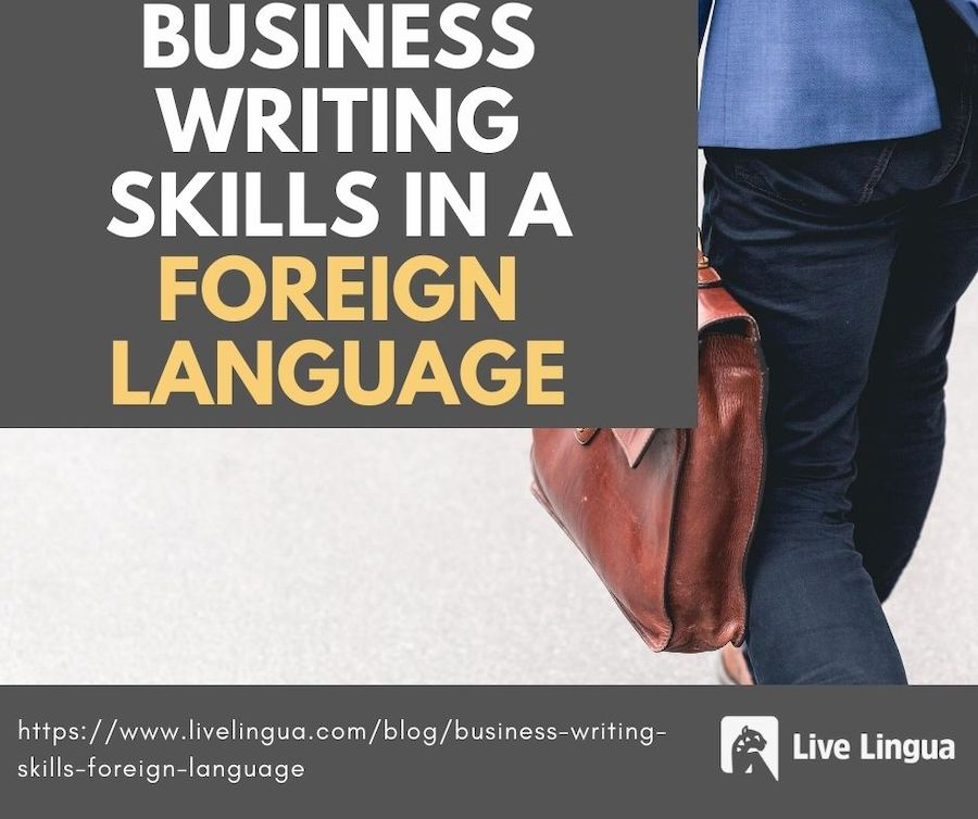 business writing foreign language
