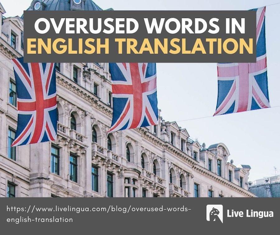 overused words in english translation