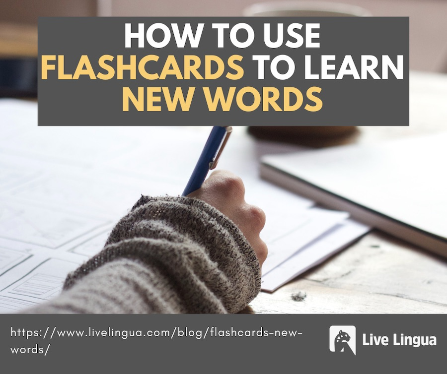 flash cards for language learning
