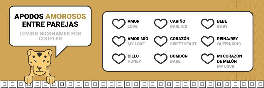loving nicknames in spanish